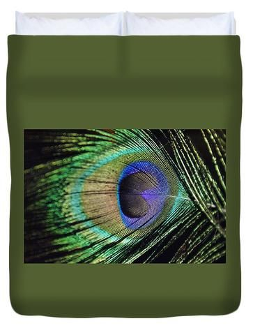 Peacock Feather - Duvet Cover