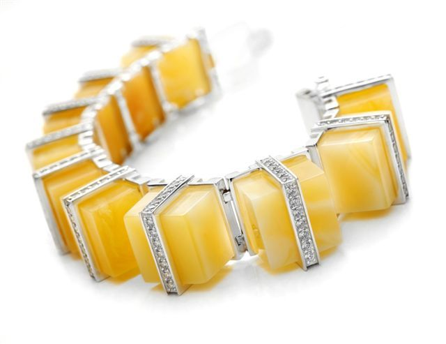 Biżuteria NAC Amber. Bracelet. Amber, Swarovski.