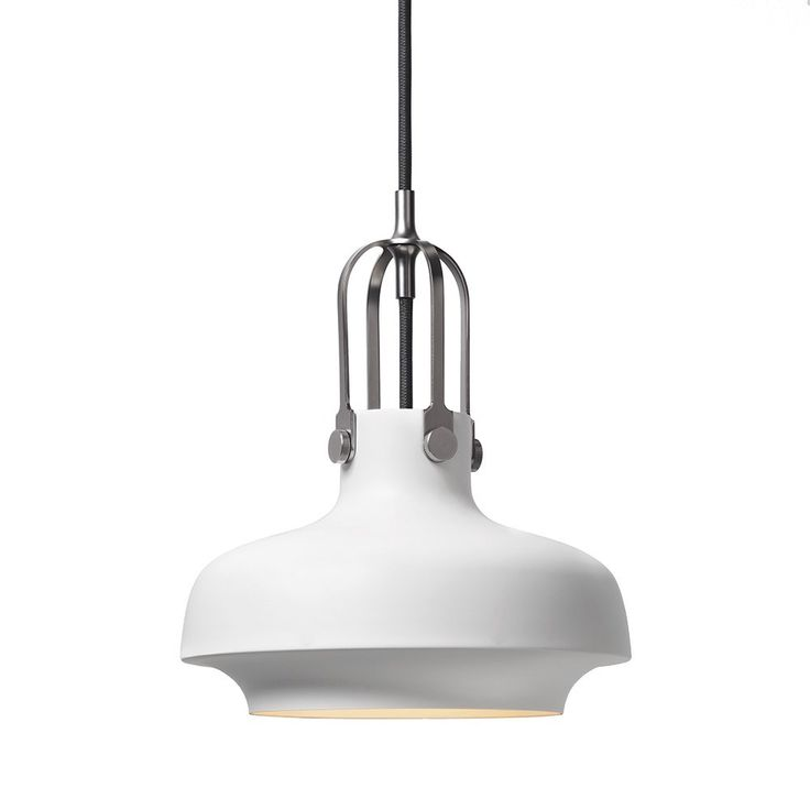 &+Tradition+Copenhagen+Pendant+SC6+-+Hang+style+aloft+with+the+&Tradition+Copenhagen+Pendant+SC6.  The+pendant+comprises+a+lacquered+metal+shade+with+a+plated+metal+suspension.  With+subtle+line+detailing+and+minimal+curved+edges,+the+light+will+make+a+great+addition+to+the+kitchen,+living+area+or+hallway+of+the+home.  The+&Tradition+Copenhagen+Pendant+SC6+is+available+in+a+choice+of+colour+finishes.+Group+one+together+for+a+consistent+look+to+your+home+lighting+arrangement+or+mix+an