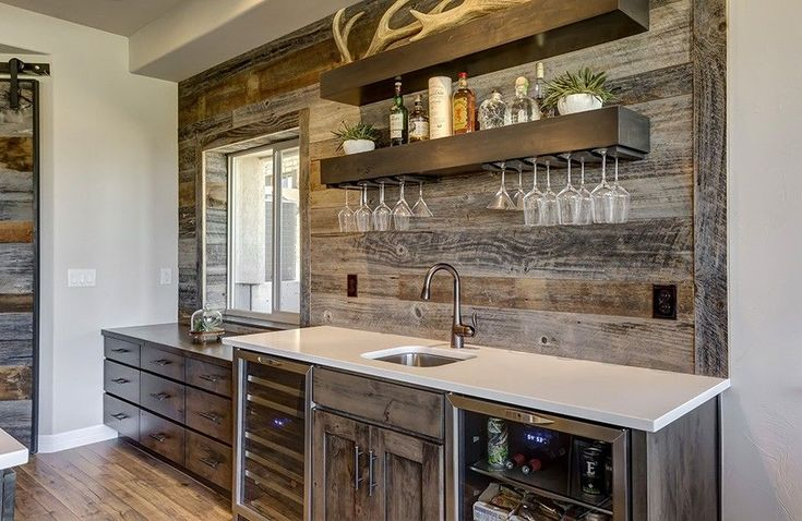 Image result for reclaimed wood wet bar  Home Interior