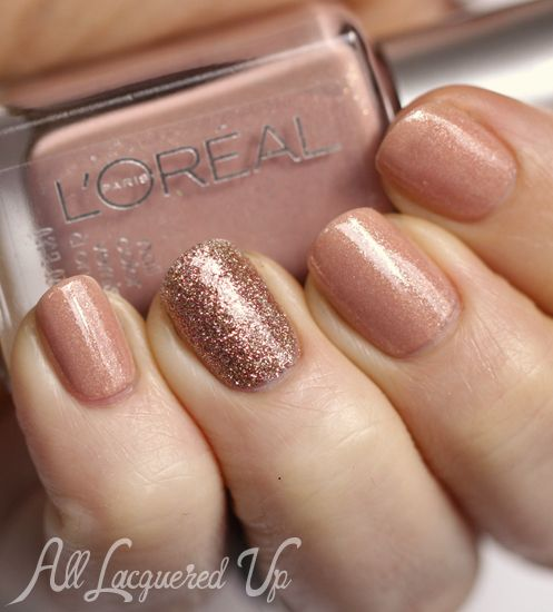 #ManiMonday on AllLacqueredUp.com – Subtle Sparkle with @L'Oreal Paris and @China Glaze Nail Polish