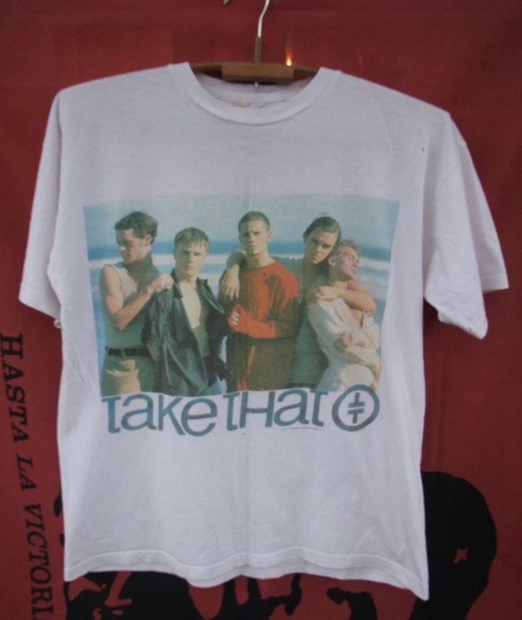 RaRe vintage 1993 TAKE THAT SUMMER UK tour Robbie Williams t-shirt tee Medium #Unbranded