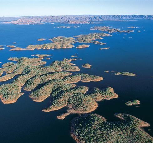 Lake Argyle - inland sea, western australia