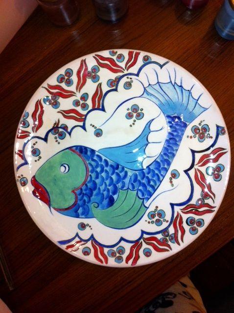 MADE BY Benian arsiray @benianarsiray  çini şaker balığım ceramic tile