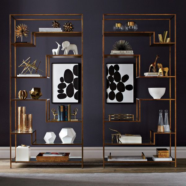 Brass Cabinet. Cool BookshelvesBookcasesBookshelf ...
