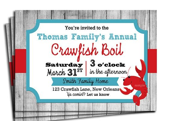 picture regarding Crawfish Boil Invitations Free Printable titled Crawfish Boil Invitation Templates Absolutely free Occasion Discussion boards in just