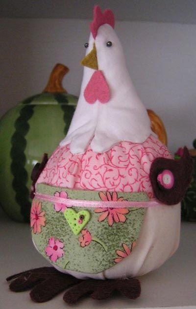 Poule Boule en tissu, Déco Pâques à fabriquer - Loisirs créatifs