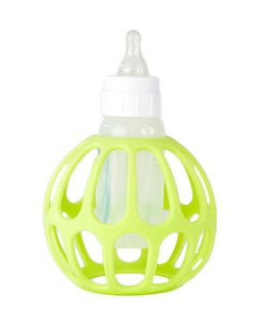 Ba Baby Bottle Holder. The silicone cage makes it easy for your