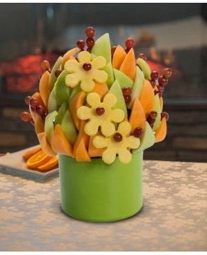 Spring Sensation Blossom scent free fruit bouquet are great for all occasions and make great gifts ideas or decorations from a proud Canadian Company. Great alternative to traditional flowers or fruit baskets