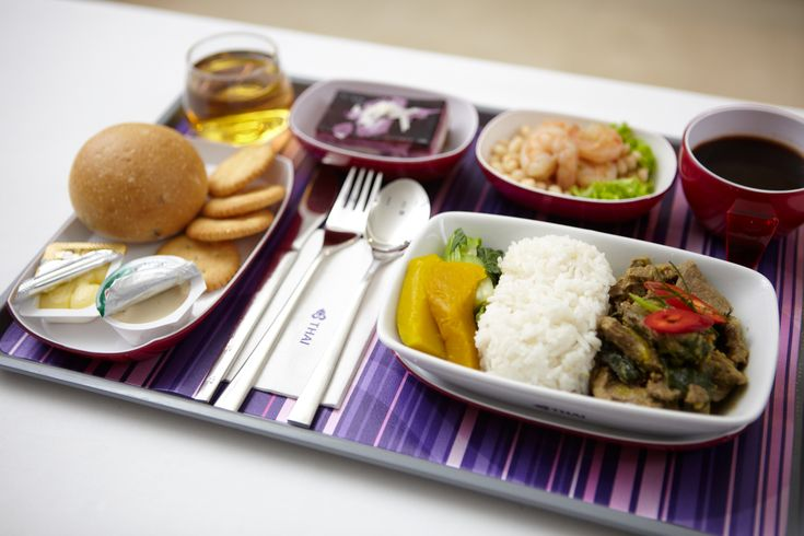 FOOD ON BOARD THAI AIRWAYS