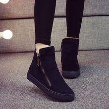 Бесплатная доставка женщин мода зимняя обувь теплые стая мартин сапоги замшевые…