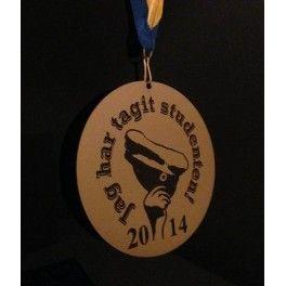 Medalj med studentloggan 12 cm i diametern