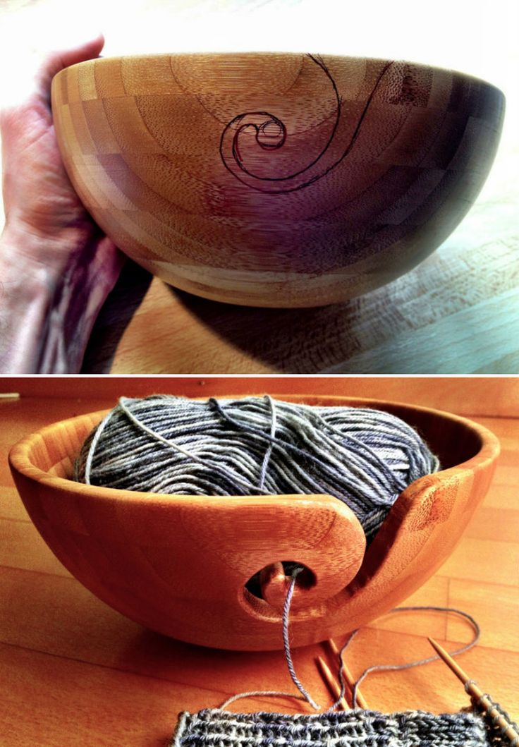 Bamboo Yarn Bowl