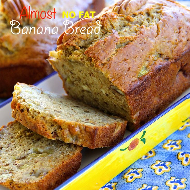 Almost No Fat Banana Bread is a recipe I'll be making often. Low in calories and less than 1 gram of fat, moist and tender, and loaded with banana flavor all make this a winner. #AllrecipesAllstars