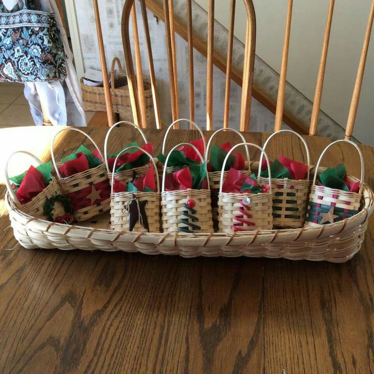 Basket weaving instructions : Cute little christmas baskets basket weaving