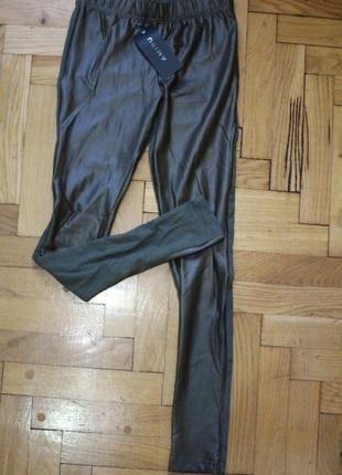 Nowe oliwkowe legginsy XS S