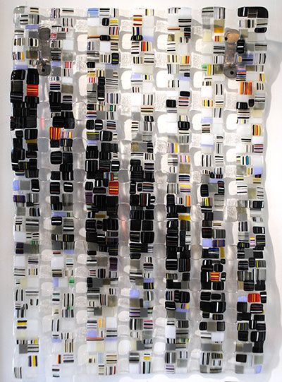 """""""Retro Mesh, Series No. 2"""" 35x24"""" Glass Wall-hangin by Reanto Foti. Available at Crescent Hill Gallery in Mississauga, ON"""