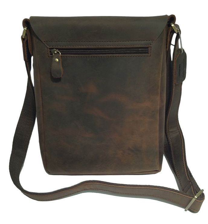 Aged Brown Leather iPad Bag