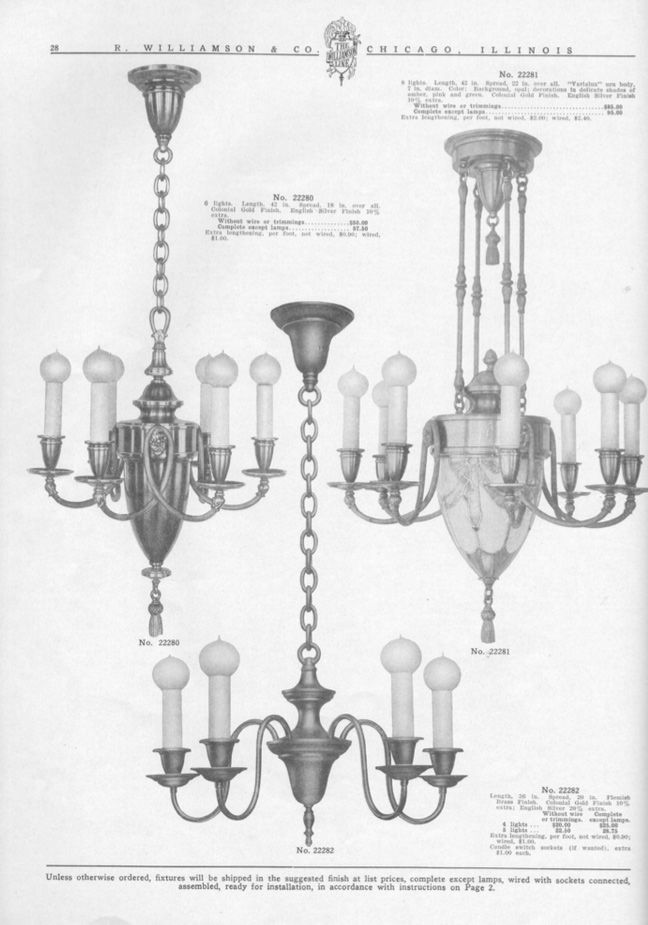 R.Williamson and Co. Circa 1910. Vintage and Antique Chandeliers, Wall  Sconces - 139 Best Vintage Lamp Catalogs & Ephemera Images On Pinterest