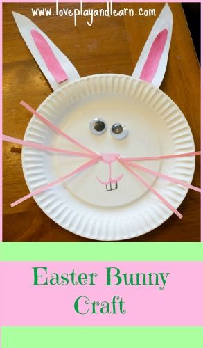 Paper Plate Easter Bunny Craft for Kids. #Easter #kids