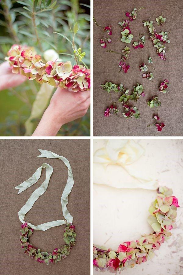 DIY couronne de fleurs Hortensia