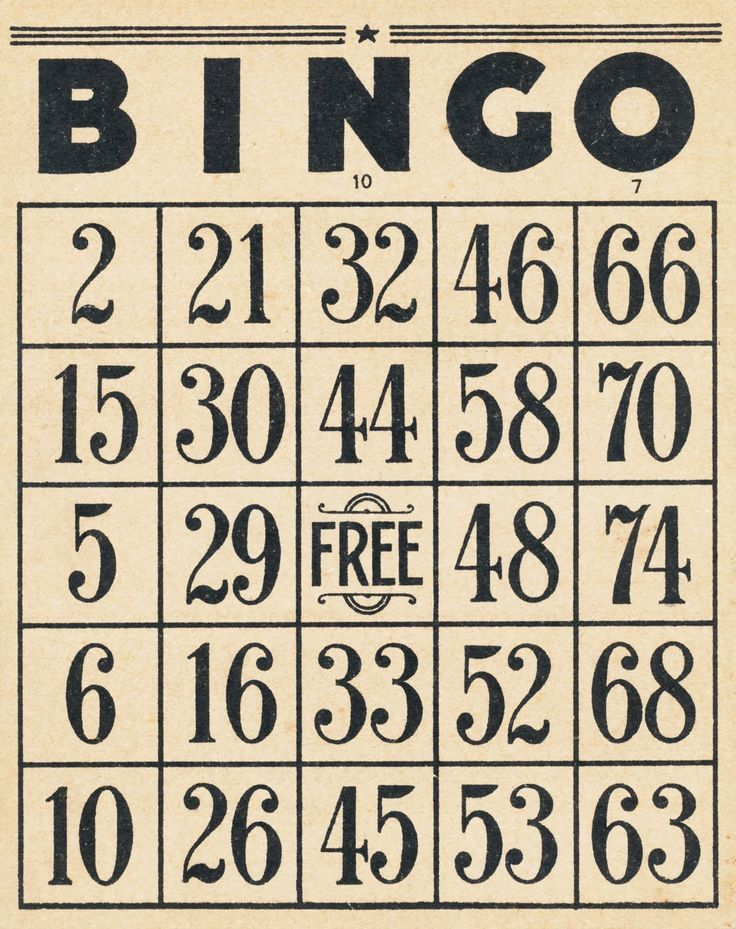 Vintage Bingo cards and 10-cent tickets.  FREE digital downloads to print and use in your collages and mixed media.