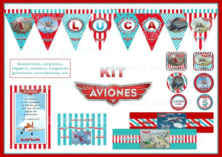 Aviones Disney - KIts Imprimibles Natalia Nachu Cia - https://www.facebook.com/pages/Natalia-Nachu-Cia/134298580103766?ref=stream_location=timeline