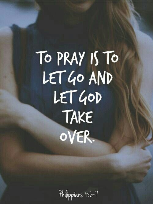 Let Go And Let God!!!