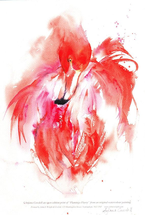 Pin By Bonnie Jellison On Flamingos In 2019 Watercolor Paintings