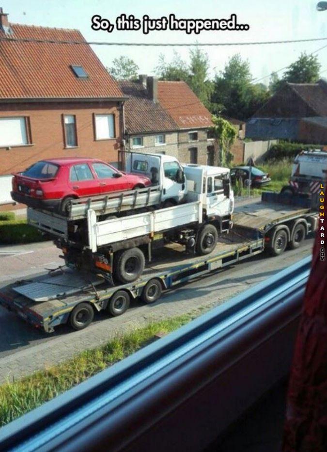 Towing a tow car