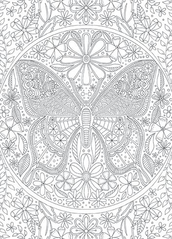 butterfly coloringcard coloringcards 395