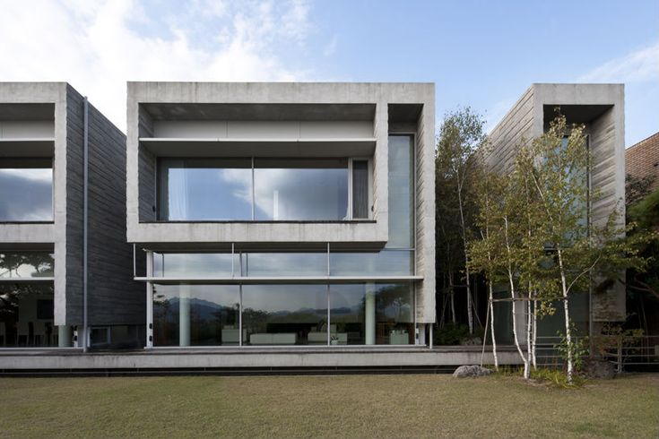 E Shaped house, Byoung soo cho, Bcho architects, south korea, unique, contemporary design, cost effective architecture