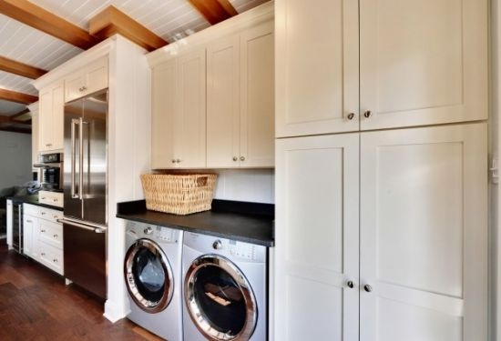 i like washer dryer nestled in under counter top w Pinterest Finished Basements Pinterest Finished Basements