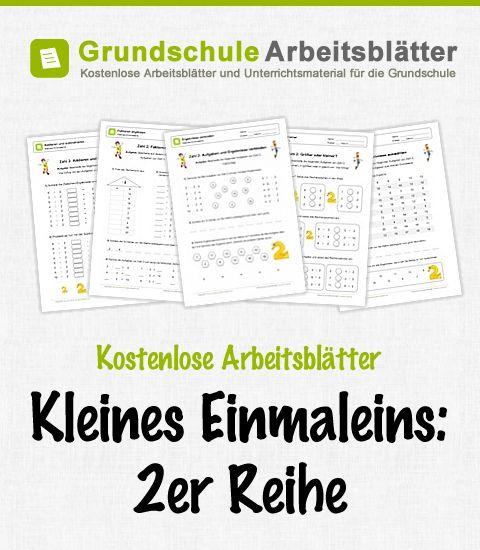 Kostenlose Arbeitsblätter und Unterrichtsmaterial zum Thema Kleines Einmaleins: 2er-Reihe im Mathe-Unterricht in der Grundschule.
