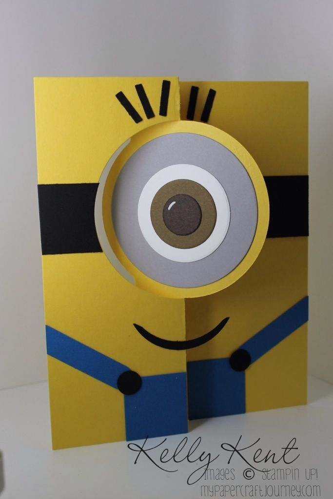 minion flip card | my paper craft journey