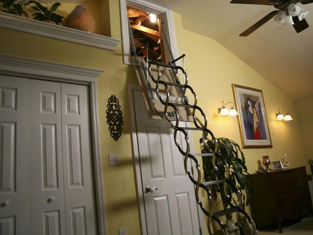 ladders to attic ideas | Fold-Away Attic Ladder : Decorating : Home & Garden Television