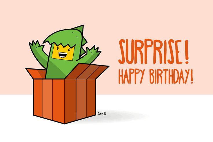 Freda the Dinosaur - Birthday Card Series - The Roundlings #cute #drawing #birthday