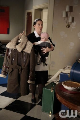"""Gaslit""   Gossip Girl   Pictured Zuzanna Szadkowski as Dorota and baby Ana  PHOTO CREDIT:  GIOVANNI RUFINO/ THE CW 2010 The CW Network, LLC. All Rights Reserved"