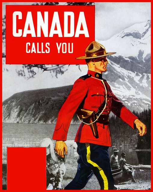Canada - #WINTER Vintage Style Travel Poster - via paul.malon