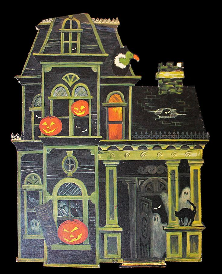 1960s haunted house wall decoration halloween