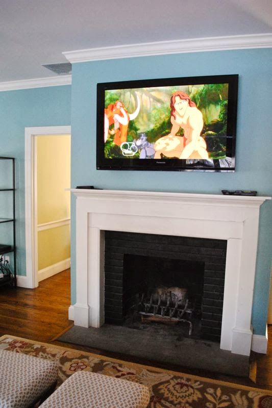 tv above mantle