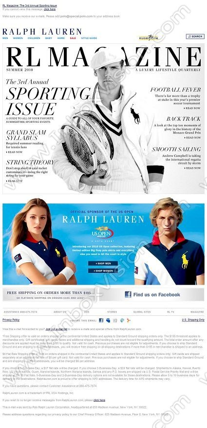 Company:  Ralph Lauren Corporation Subject:  Experience The Ralph Lauren Lifestyle               INBOXVISION providing email design ideas and email marketing intelligence.    www.inboxvision.com/blog/  #EmailMarketing #DigitalMarketing #EmailDesign #EmailTemplate #InboxVision  #SocialMedia #EmailNewsletters