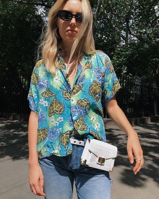 Hawaiian Shirt Outfits with Belt Bag | Hawaiian shirt outfit ...