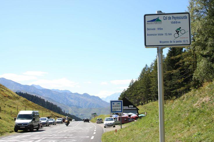 Col de Peyresourde ( Pyrénées) - 1569m - 13,7km à 6,7% (11,7% maxi) - Dénivelé 919m.