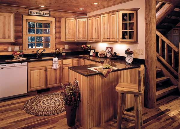 15 best hickory cabinets images on pinterest diy beach for Western kitchen cabinets