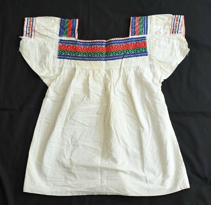 Nahua Blouse Mexico (Teyacapan) Tags: mexico clothing embroidery sewing mexican textiles tehuacan puebla blouses blusas nahua sanmateotlacoxcalco