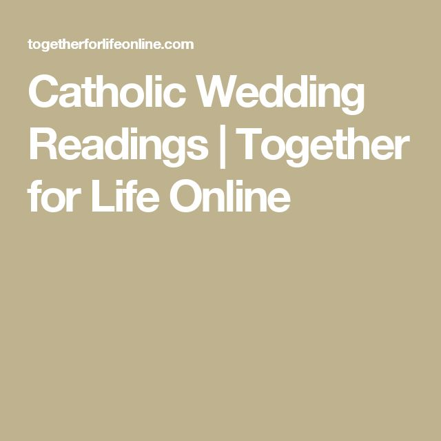 Catholic Wedding Readings: Best 20+ Catholic Wedding Readings Ideas On Pinterest