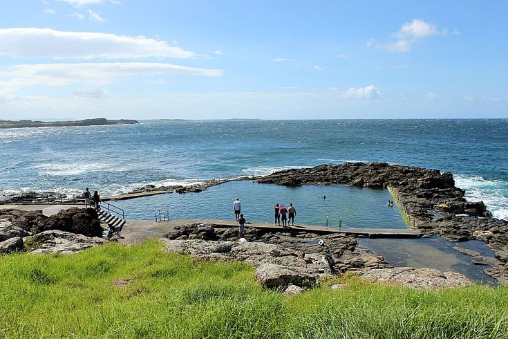 Kiama rock pool White sands and donut vans on the South Coast of NSW via The World on my Necklace