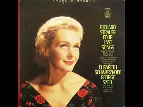 Richard Strauss - Four Last Songs: Spring, September, Going to Sleep (Poems by Hermann Hesse), and In the Glow of Evening (Poem by Joseph von Eichendorff). Legendary recording with soprano Elisabeth Schwarzkopf and the Berlin Radio Symphony Orchestra, conducted by George Szell. Sets the poems to music depicting the stages of life as Spring, September, In the Glow of Evening, and Going to Sleep. Sublime, serene and poignant music looking back and finally taking leave of life. - YouTube