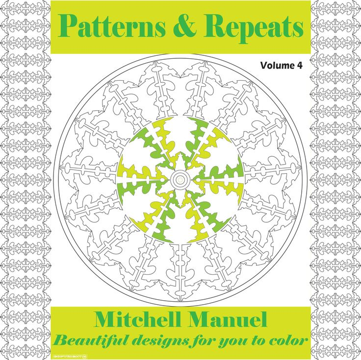 Patterns and Repeats Volume 4: 35 Beautiful designs for you to color by ColoringinBooklet on Etsy